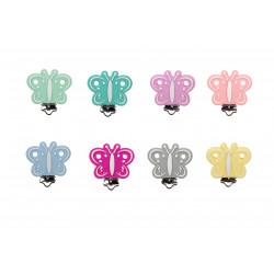 Silicone Clip Pince Attache Tetine Papillon 45mm x 50mm MC2050003