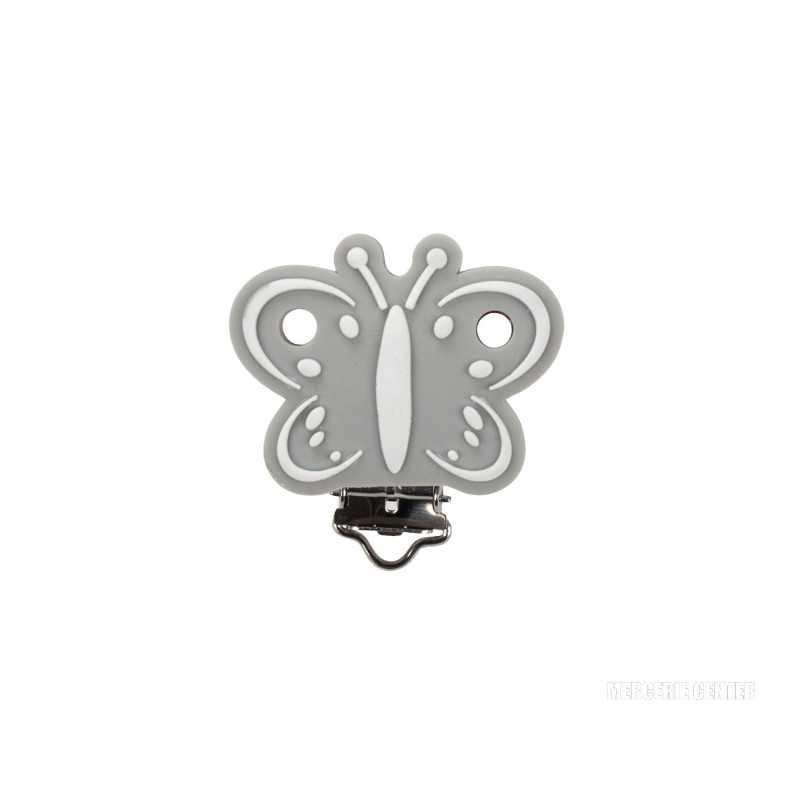 Silicone Clip Pince Attache Tetine Papillon 45mm x 50mm