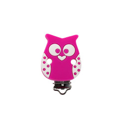 Clip Silicone Pince Attache Tetine Hibou 35mm x 50mm MC2035715