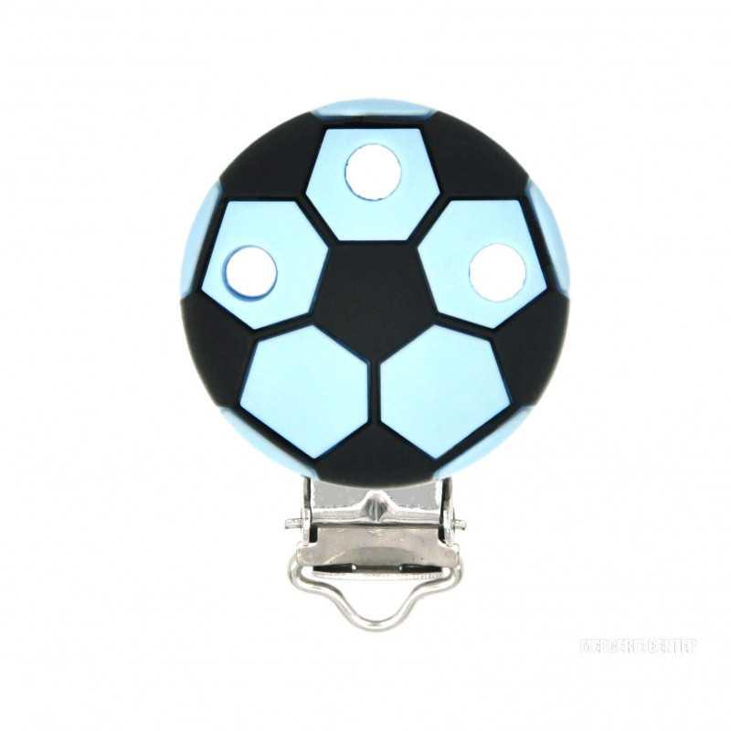 Clip Silicone Pince Attache Tetine Ballon de Foot 35mm x 50mm