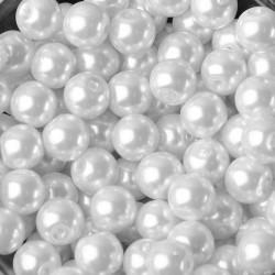 20 Perles imitation en Verre 8mm Couleur Blanc MC0108273