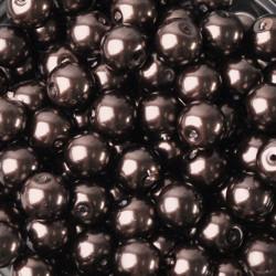 20 Perles imitation en Verre 8mm Couleur Marron MC0108288