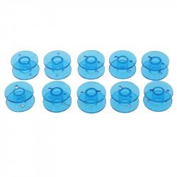 5 ou 10 Bobines Canettes en Plastique Couleur Bleu Pour Fil de Machine à Coudre MC1000031