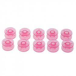 5 ou 10 Bobines Canettes en Plastique Couleur Rose Pour Fil de Machine à Coudre MC1000035
