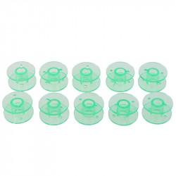 5 ou 10 Bobines Canettes en Plastique Couleur Vert Pour Fil de Machine à Coudre MC1000037