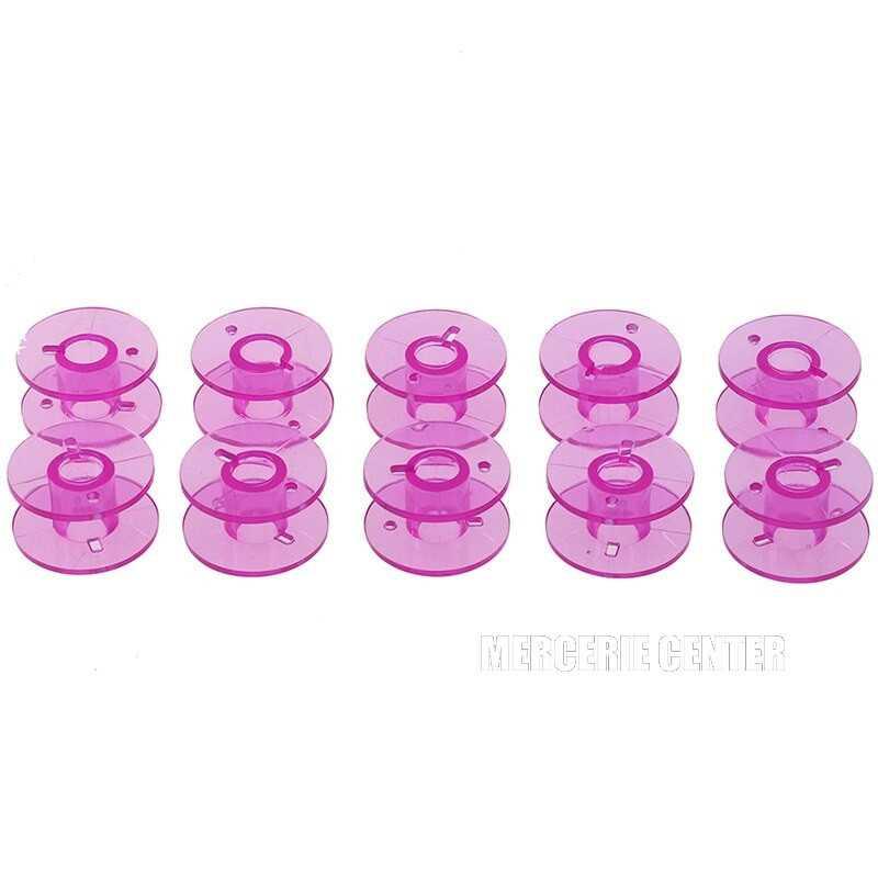 5 ou 10 Bobines Canettes en Plastique Couleur Violet Pour Fil de Machine à Coudre