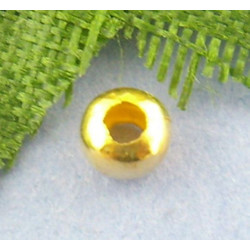 100 Perles en Métal Doré 3mm Brillant MC0103005
