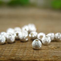 25 Perle Stardust 3mm Plaqué Argent MC0103001