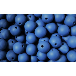 5 Perles Silicone 15mm Couleur Bleu Ardoise MC1200150BA