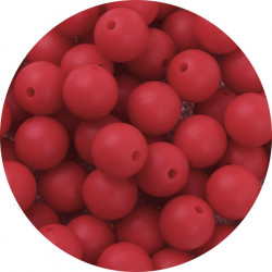 10 Perle Silicone 9mm Couleur Rouge MC1200130Y