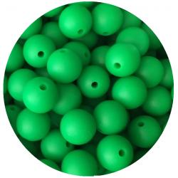 5 Perles Silicone 15mm Couleur Vert Herbe MC1200150VH