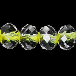 40 Perles en Verre 4mm Facette Jaune Fluo Transparent MC0104013