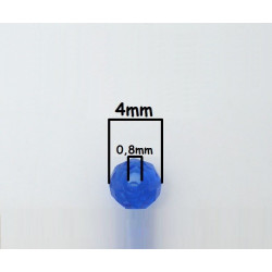 40 Perles en Verre 4mm Facette Bleu Transparent MC0104010