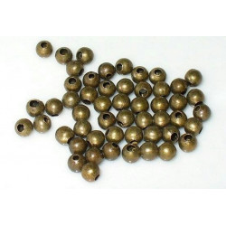 50 Perles en Métal 4mm Brillant