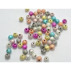50 Perle en Acrylique Stardust 4mm Mixte