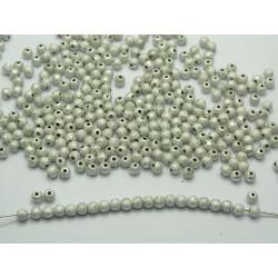 50 Perles en Acrylique Stardust 4mm Argenté
