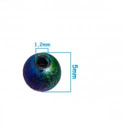 50 Perles en Acrylique Stardust 5mm Arc en Ciel MC0105004