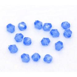 100 ou 200 Perles Bleu Bicone toupie en Acrylique 4 x 4mm