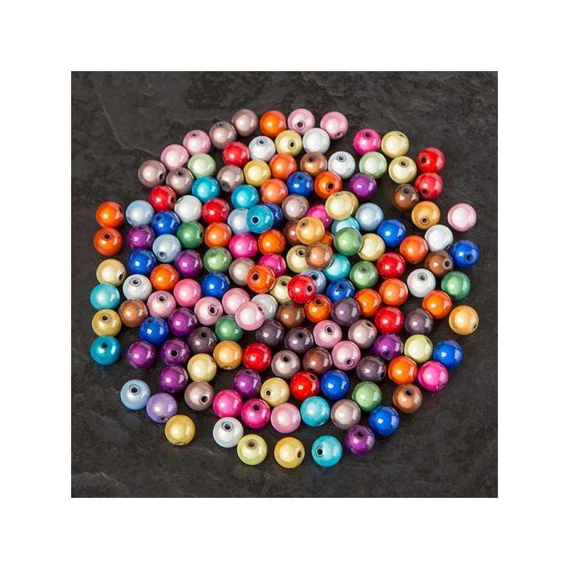 10 Perles 10mm Mixte Miracle Magique Effet Oeil De Poisson