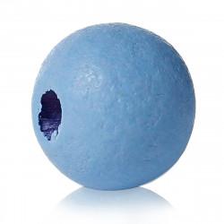 20 Perles en bois bleu 8mm