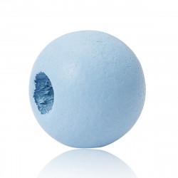20 Perles en bois Bleu Clair 10mm