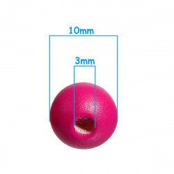 20 Perles en bois Fuchsia 10mm