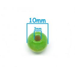 20 Perles en bois Vert 10mm MC0110057