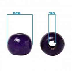 20 Perles en bois Violet 10mm MC0110058