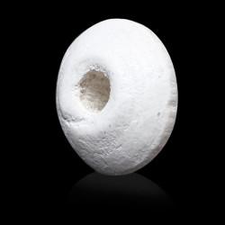 30 Perles intercalaires rondelle Blanc Mat en Bois 10mm x 5mm