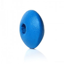 30 Perles Intercalaires Rondelles Bleu en Bois 10mm x 5mm